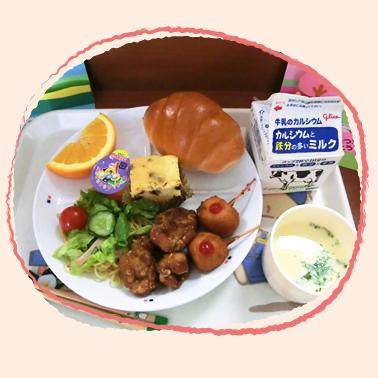明照保育園の給食のサンプルイメージ